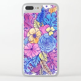 Floral Abundance Clear iPhone Case