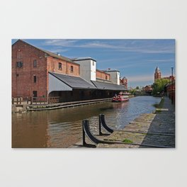 the real wigan pier Canvas Print