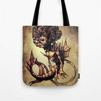 seahorse Tote Bags featuring SEAHORSE by Tim Shumate