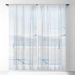 deadvlei desert trees acrwb Sheer Curtain