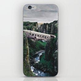 The Plane Crash Bridge-Sólheimasandur Plane Crash iPhone Skin
