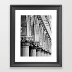 Doges Palace pillars and arches, Venice Framed Art Print