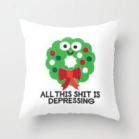 Ho Ho Hopeless Throw Pillow