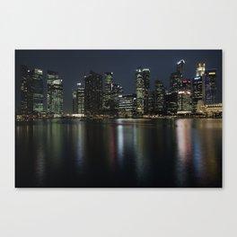 Singapore's sky line at dusk Canvas Print