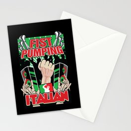 Fist Pumping Italian Stationery Cards