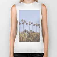 palms Biker Tanks featuring Palms by A. Williams