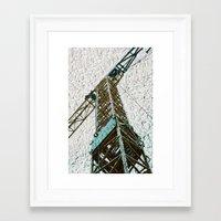 crane Framed Art Prints featuring Crane by Art & Fantasy by LoRo