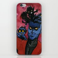 nightcrawler iPhone & iPod Skins featuring Kurt & Bamfs by Fiendish Thingy Art