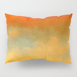 Abstract Sunset Digital Painting Pillow Sham