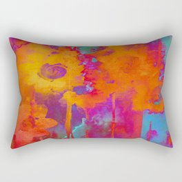bright abstract bouquet Rectangular Pillow