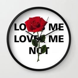 loves me loves me not roses Wall Clock