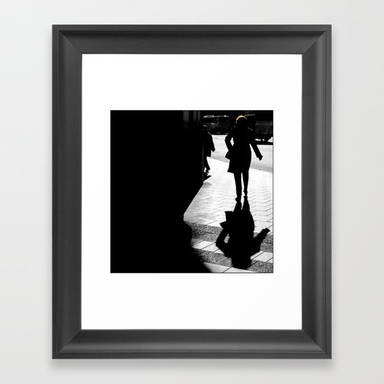 Me, myself and my shadow Framed Art Print