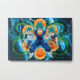 Vegeta and Goku turn Vegeto Metal Print