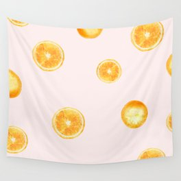 Orange watercolor Wall Tapestry