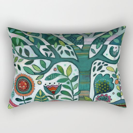 Leafy Garden Rectangular Pillow