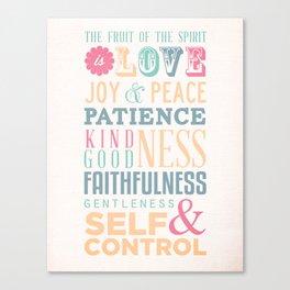 Fruit of the Spirit // flower Canvas Print
