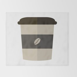 Cup of coffee Throw Blanket
