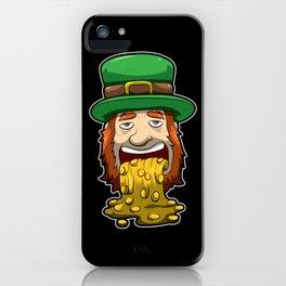 Leprechaun Vomits Coins - Irish Wealth iPhone Case