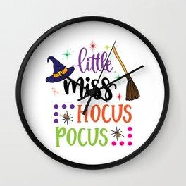 Little Miss Hocus Pocus Wall Clock