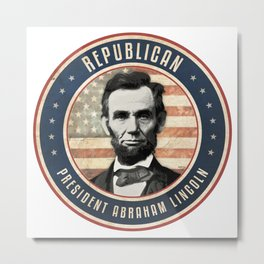 Republican President Abraham Lincoln Metal Print