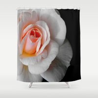 blush Shower Curtains featuring Blush by LilyMichael Photography