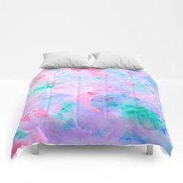 Watercolor Abstract Landscape Pattern Blue Purple Comforters