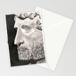 Statue Head Stationery Cards