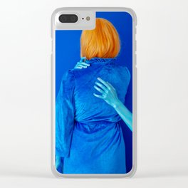 lissy as me (blue study) Clear iPhone Case