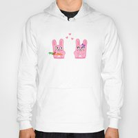 bunnies Hoodies featuring Oh, bunnies!.. by Trapezoid