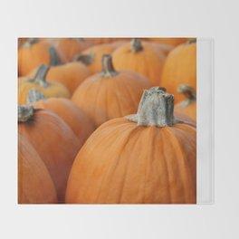 Pumpkins 3 Throw Blanket