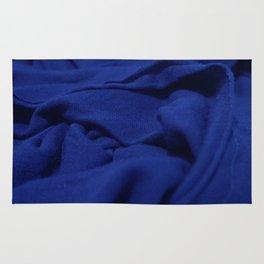 Blue Velvet Dune Textile Folds Concept Photography Rug