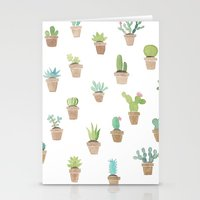 cacti Stationery Cards featuring Cacti by Yardia