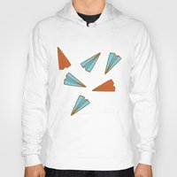 planes Hoodies featuring Paper Planes by evannave