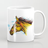 mustang Mugs featuring Mustang by Sam Larson