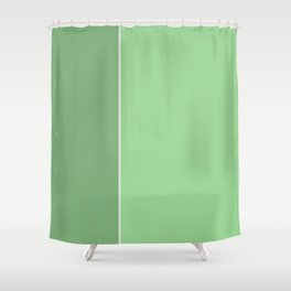 Green Lines Shower Curtain