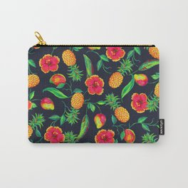 Tropical fruit and flowers Carry-All Pouch