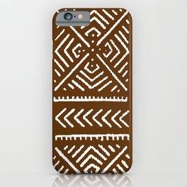 Line Mud Cloth // Brown iPhone Case