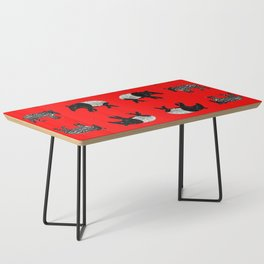 Dance of the Tapirs in red Coffee Table