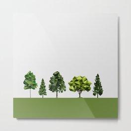 Poly geometric trees Metal Print
