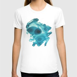 Focus - abstract in blue india ink T-shirt