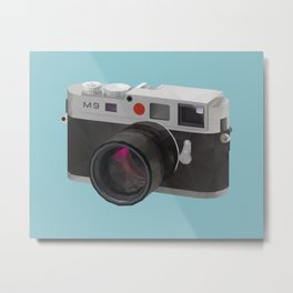 Leica M9 Camera polygon art Metal Print