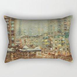Northeast Village Snowfall Rectangular Pillow