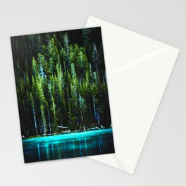 Emerald Pines Saphire Lake Stationery Cards