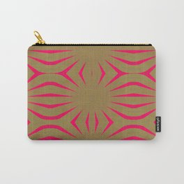 Pinkbrown(blue) Pattern 6 Carry-All Pouch