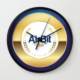 AirBit Club LOGO for fans Wall Clock