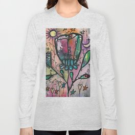 Bloom under sun moon and stars Long Sleeve T-shirt