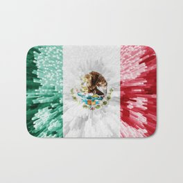 Extruded Flag of Mexico Bath Mat