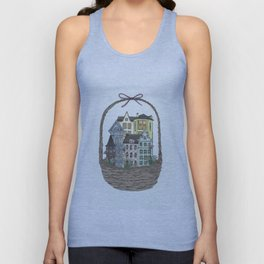 Basket town, city, homes Unisex Tank Top