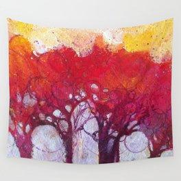 Alberi nel bosco Wall Tapestry