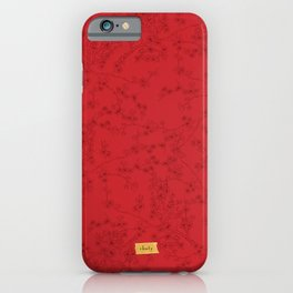 Red Cherry-Blossoms iPhone Case